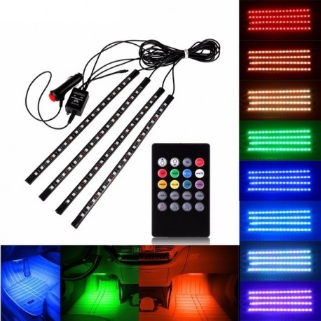 Banda LED RGB cu telcomanda 32cm - 12V