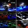 Banda Led RGB pentru interior/exterior cu BlueTooth - 4 bucati