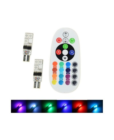 Set 2 becuri pozitie cu telecomanda RGB 16 culori