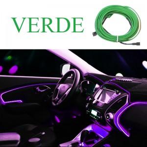 Fir neon, lumina ambientala auto - Verde (3M lungime)