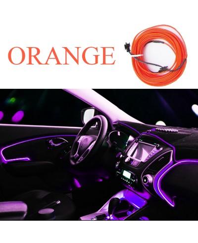 Fir neon, lumina ambientala auto - Orange (3M lungime)